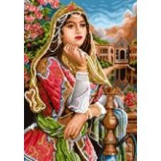 نخ نقشه بافت تابلو فرش دارچوبک تبریز دختر قاجار