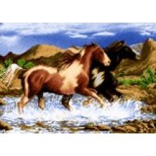 نخ نقشه بافت تابلو فرش دارچوبک تبریز تاخت اسبها