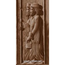 طرح تابلوفرش دو سرباز