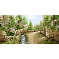 طرح تابلوفرش كوچه باغ منظره