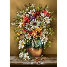 ایران فرش تابلوفرش گلدان زیبا