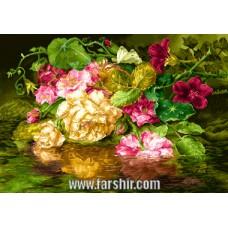 ایران فرش تابلوفرش گل های رویایی