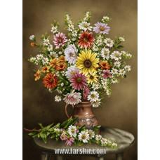 ایران فرش تابلوفرش گلدان شکیبا