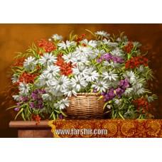 ایران فرش تابلوفرش گل مینا