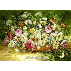 ایران فرش تابلوفرش گلهای وحشی