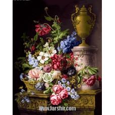 ایران فرش تابلوفرش گلدان و جام
