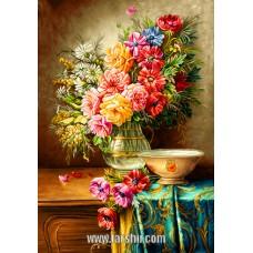 ایران فرش تابلوفرش گلدان شیشه ای