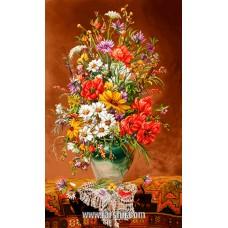 ایران فرش تابلوفرش استایل گل