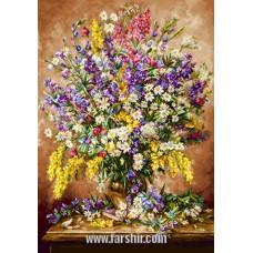 ایران فرش تابلوفرش شکوه میز گل