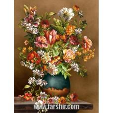 ایران فرش تابلوفرش گلدان بهاری