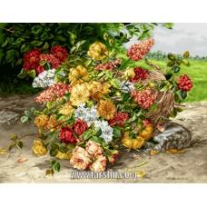 ایران فرش تابلوفرش سبدی در باغ