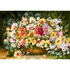 ایران فرش تابلوفرش گلهای دل انگیز