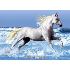 ایران فرش تابلوفرش اسب در ساحل