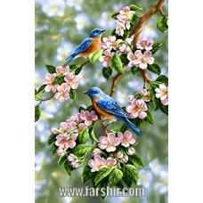 ایران فرش تابلوفرش زیبایی بهار
