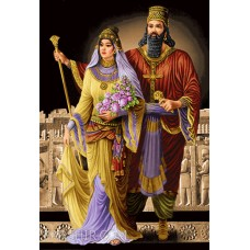 طرح تابلوفرش کوروش و ملکه