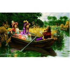 طرح تابلوفرش قایق رمانتیک