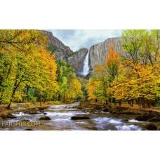 طرح تابلوفرش آبشار کوهستان