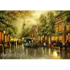 طرح تابلوفرش خیابان شانزلیزه کوچک