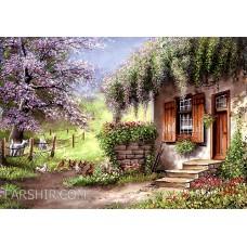 طرح تابلوفرش خونه باغ