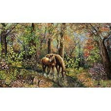 طرح تابلوفرش دو اسب