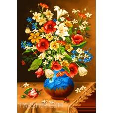 ایران فرش تابلوفرش گلهای رنگی