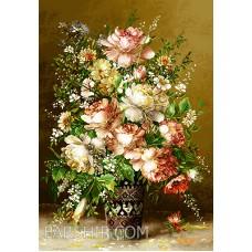 ایران فرش تابلوفرش گل و گلدان یادبود