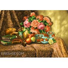 ایران فرش تابلوفرش گل خاطره