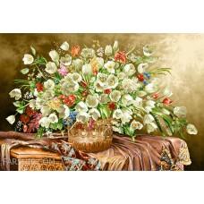 ایران فرش تابلوفرش گلدان لاله ها