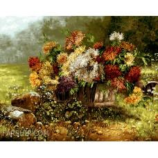 ایران فرش تابلوفرش گلهای دشت