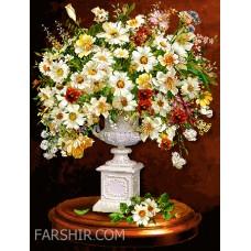 طرح تابلوفرش گلدان دربار