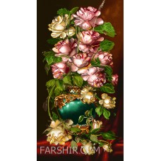 ایران فرش تابلوفرش گلدان آنتیک