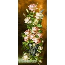 ایران فرش تابلوفرش گل آنتیک