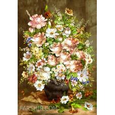 طرح تابلوفرش گلدان آرزو