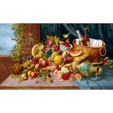 طرح تابلوفرش میز و میوه