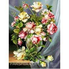طرح تابلوفرش گلدان شیشه ای زیبا