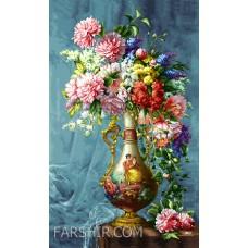 طرح تابلوفرش گل و گلدان زیبا