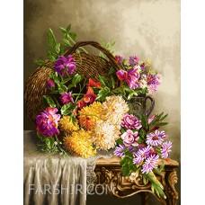 ایران فرش تابلوفرش سبد گل روی میز