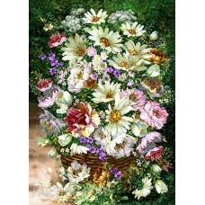 طرح تابلوفرش گل های بنفش
