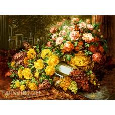 طرح تابلوفرش گل های ایرانی