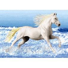 طرح تابلوفرش اسب در ساحل کوچک